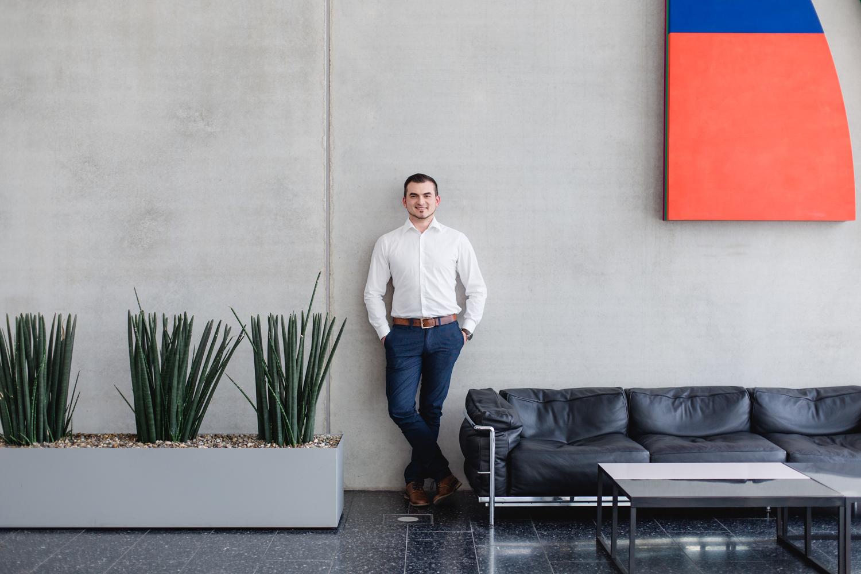 Business-Portrait in einem Unternehmen
