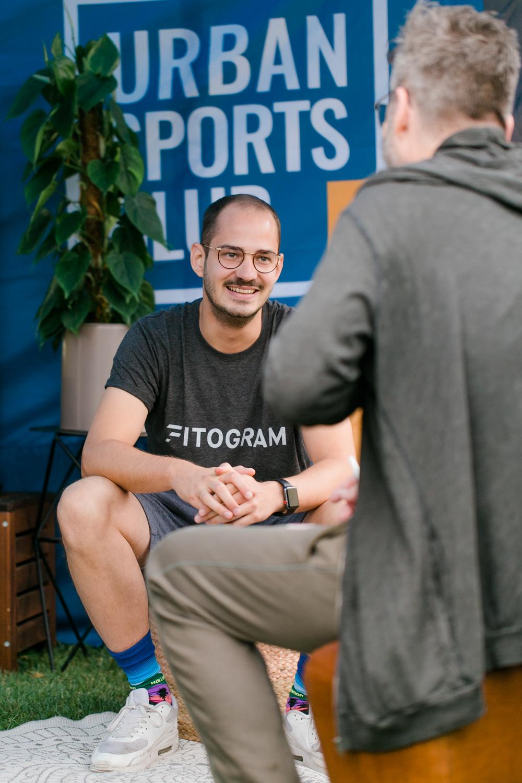 Urban Sports Club beratung auf dem Wanderlustfestival